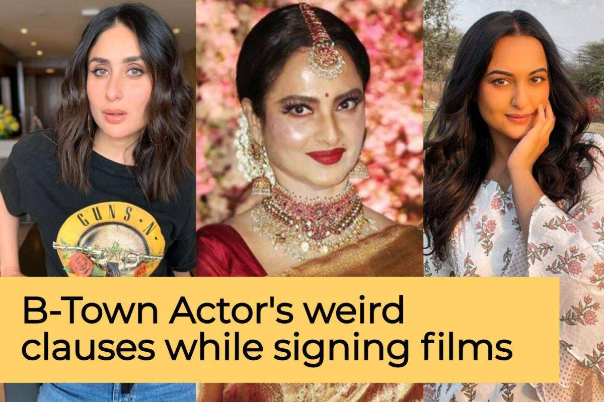 Actor's weird clauses while signing films