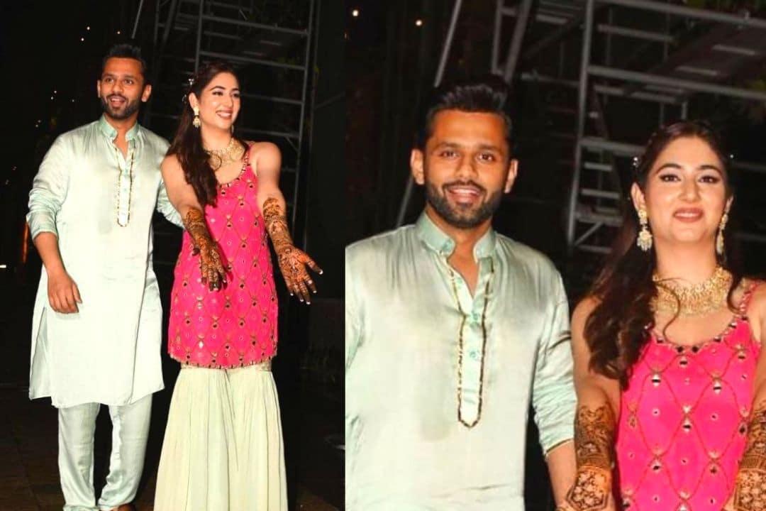 Rahul Vaidya and Disha Parmar Wedding: Bride-To-Be Flaunts Her Beautiful Mehendi As She Poses With Groom