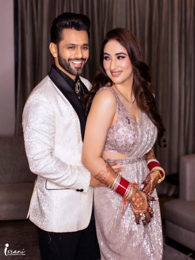 Rahul Vaidya & Disha Parmar Makes a Grand Entry At Reception